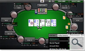 The new pokertracker HUD at the table