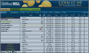 william hill poker software lobby options